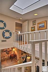 Beach cottage upstairs hallway