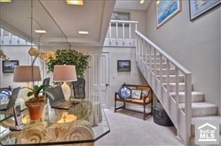 Beach cottage stairway