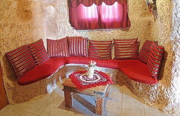 Unusual Flintstones Houses seating area