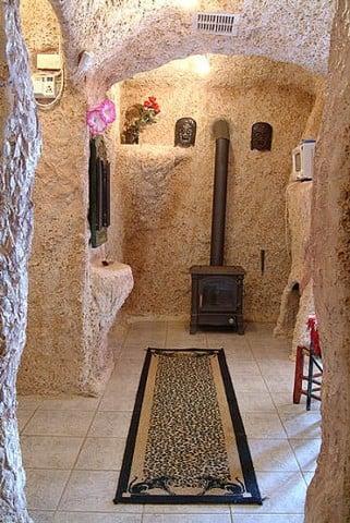 Unusual Flintstones Houses Bedrock house hallway