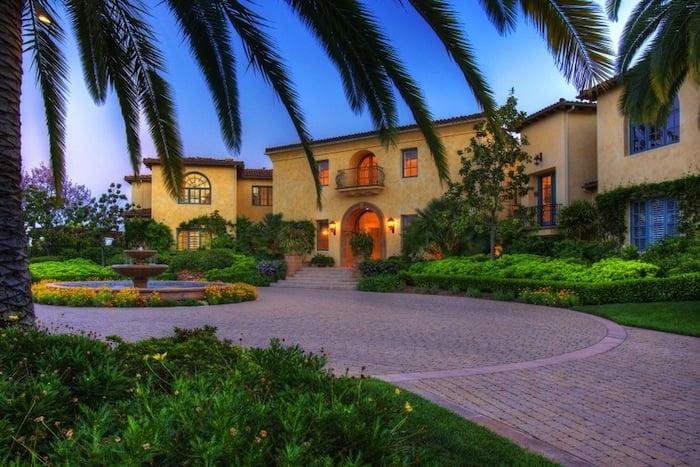 Mediterranean-Style Home Exterior – English Style Interior