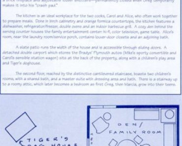 TV Set blueprints Brady house