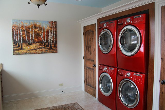 Double deckier full sized washer and dryer Castle house for sale IL