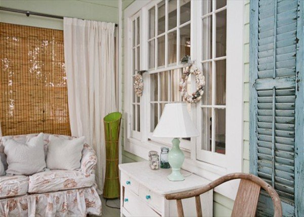 Front porch with vintage shutters