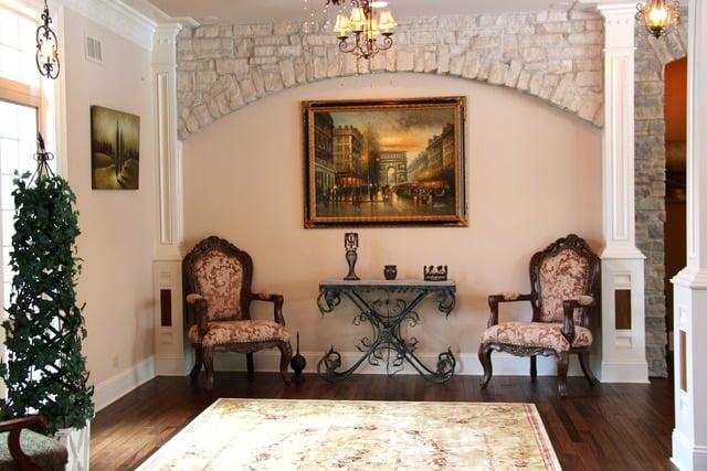 Inside a house built like a castle for sale