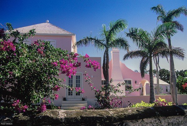 Pink house in Bahamas
