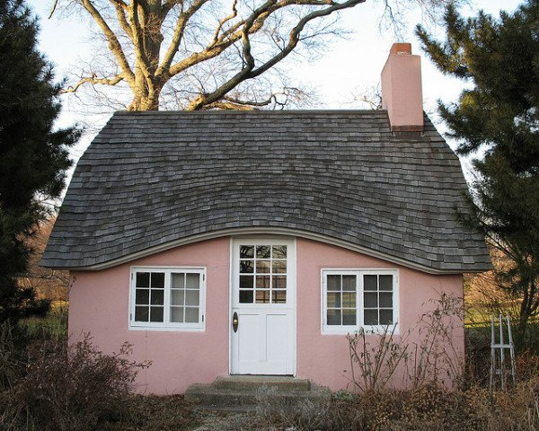 Small pink house