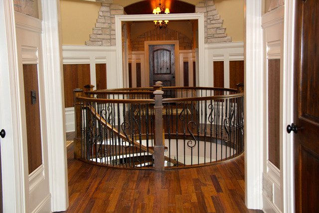 Top of Spiral Staircase Castle house for sale in IL