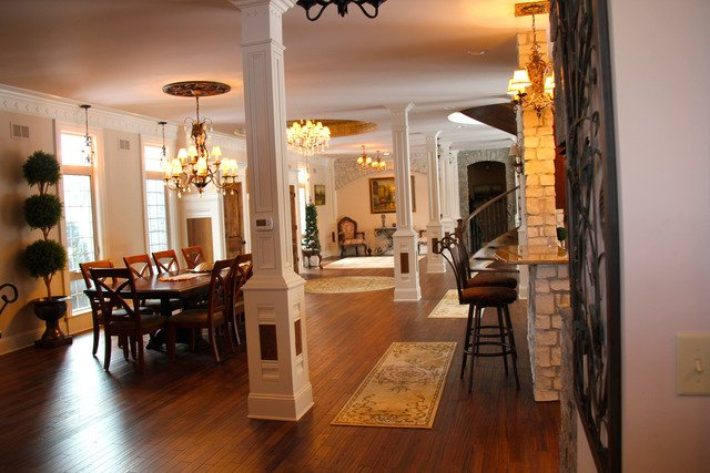 Inside Castle House Warrenville, IL for sale is very king and queen-like