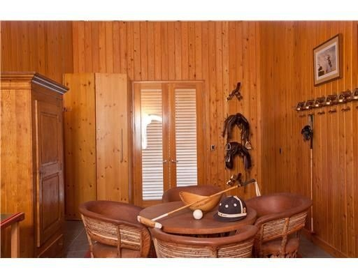 Tack room at Tommy Lee Jones polo estate via zillow