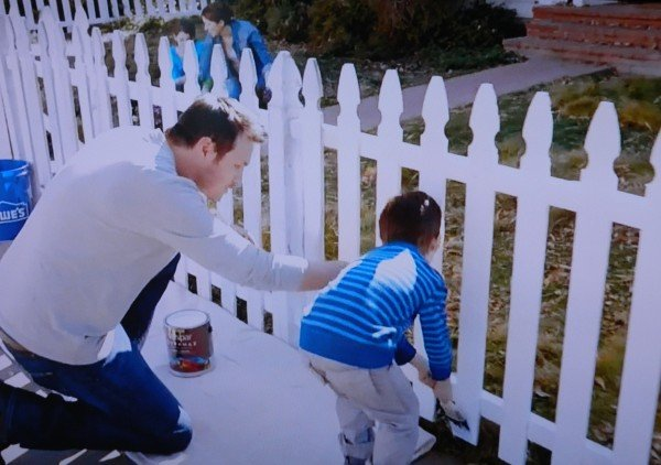Lowe's commercial painting fence