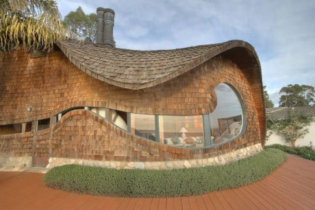 The Wave House has a roof shaped like a wave and the inside captures the sound of the ocean