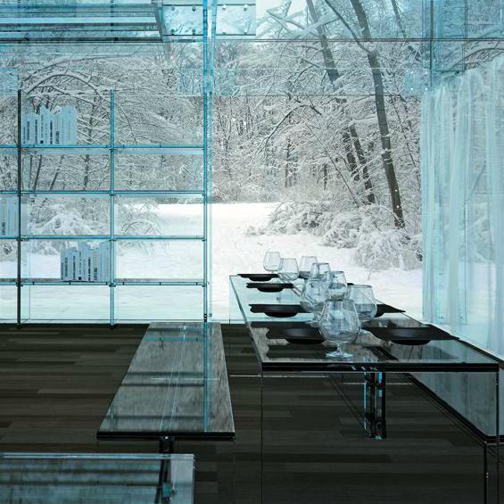 Santambrogio Glass House Dining room table