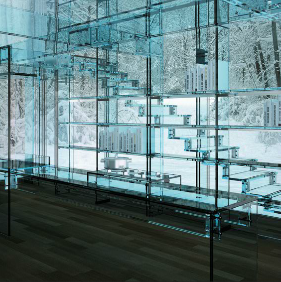 Santambrogio Glass House Stairway