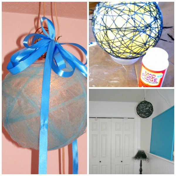 DIY hanging pendant lights