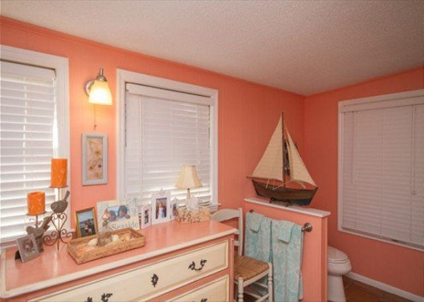 Coral master bathroom