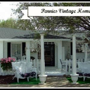 Painted white brick home makeover
