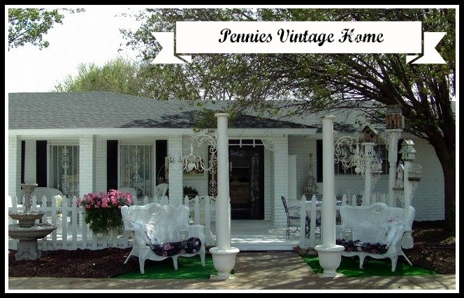 White painted brick exterior and a shabby cottage chic trailer Cottage and home
