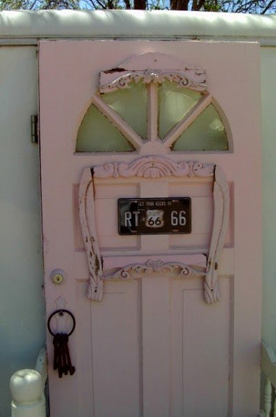 Pink shabby chic door