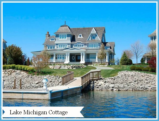 Home tour a lake michigan cottage for Building a home in michigan