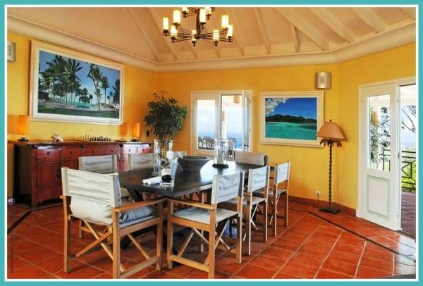 Dining Room St. Barth Mansion