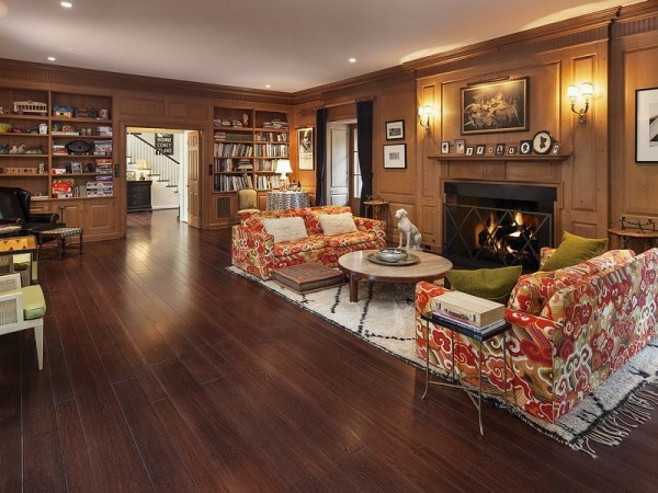 Great room showing the fireplace