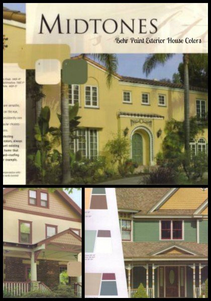 Behr Midtone Exterior Paint Color Ideas