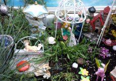 fairy garden made out of toys