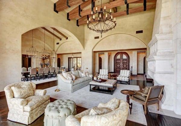 Elegant formal living room opposite view