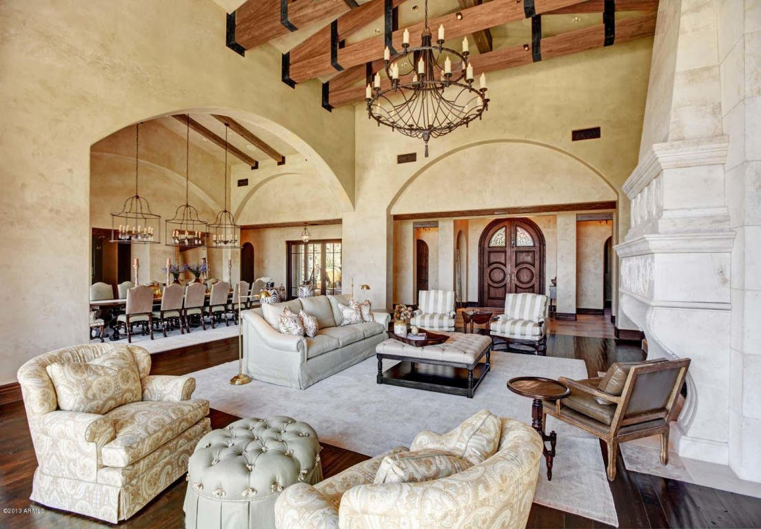 Million dollar home in scottsdale arizona is 24 500 000 for Million dollar living rooms