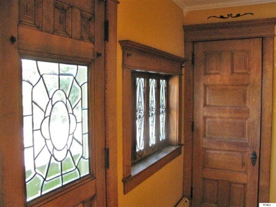 Victorian home leaded glass windows