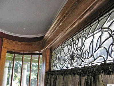 Victorian home leaded glass window