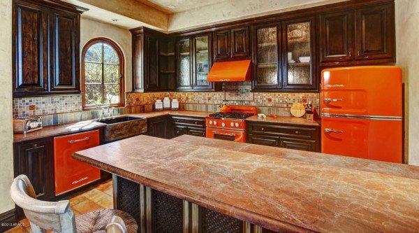million dollar home with retro kitchen appliances