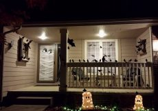 Spooky halloween decorating