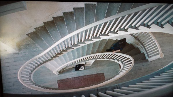 Spiral Staircase The Bourne Legacy movie scene