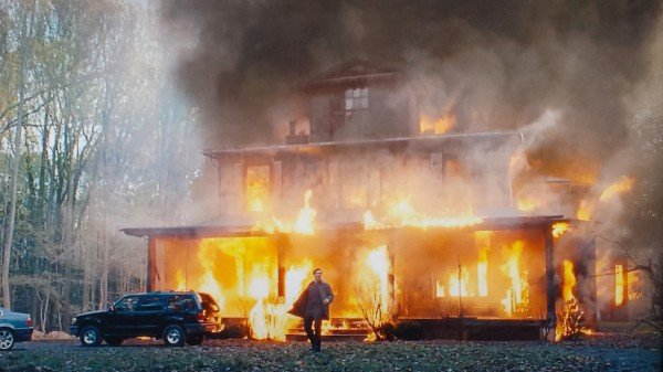 The Bourne Legacy Movie house fire screenshot