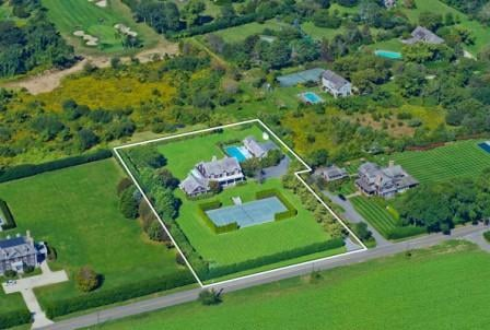 birds eye view Bridgehampton Estate for sale