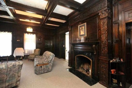 Historic tudor style iowa mansion is steal of the week for Tudor style fireplace