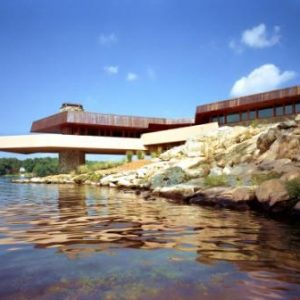 Frank Lloyd Wright house on Petra Island via Private Islands Online