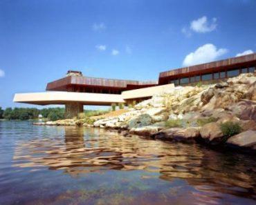 Frank Lloyd Wright house on Petra Island via Private Islands Online