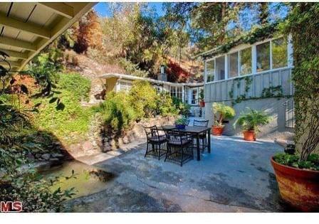 Jean Harlow Estate patio