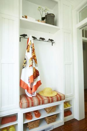 Southern Living Built-in Mudroom