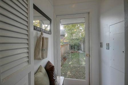 Spite house back door