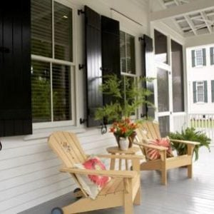 Sugarberry Cottage Front Porch by Southern Living house plan