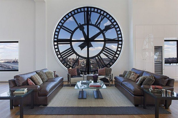 Clock tower penthouse in new york is 18 million for Living room brooklyn 86 st