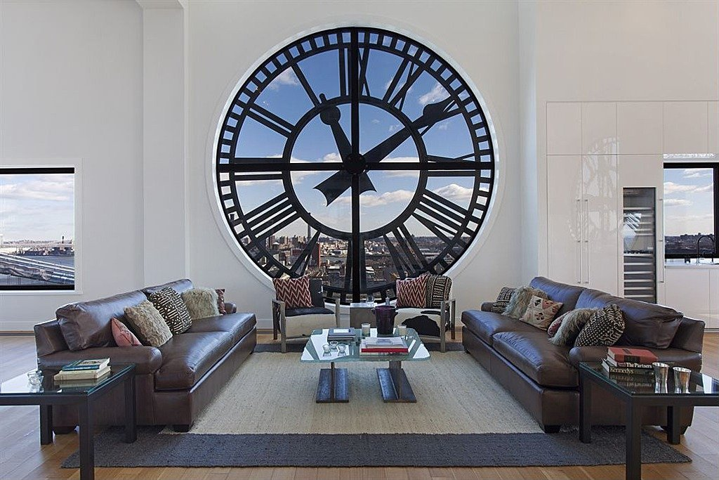 Clock tower penthouse is an architectural wonder in NYC at 1 Main St Apt 16