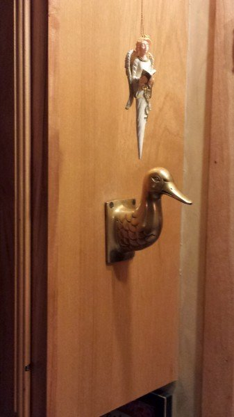 Angel ornament and brass Duck