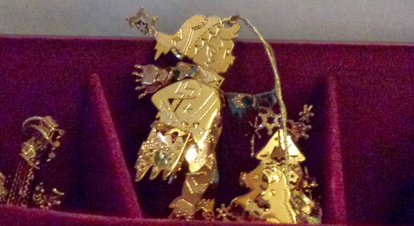 Danbury Mint Gold Christmas Ornament Collection