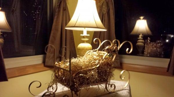 Gold Christmas sleigh