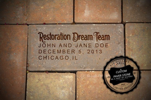 Walt Disney house custom paver stone
